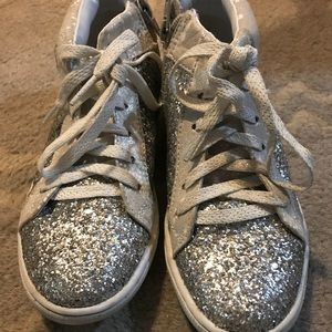 Justice Sparkly Hi Top Girls 2 (worn a few times)